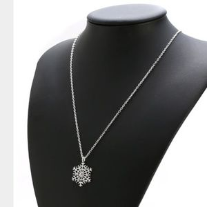 4 for $20 Snowflake Pendant Necklace (Silver)